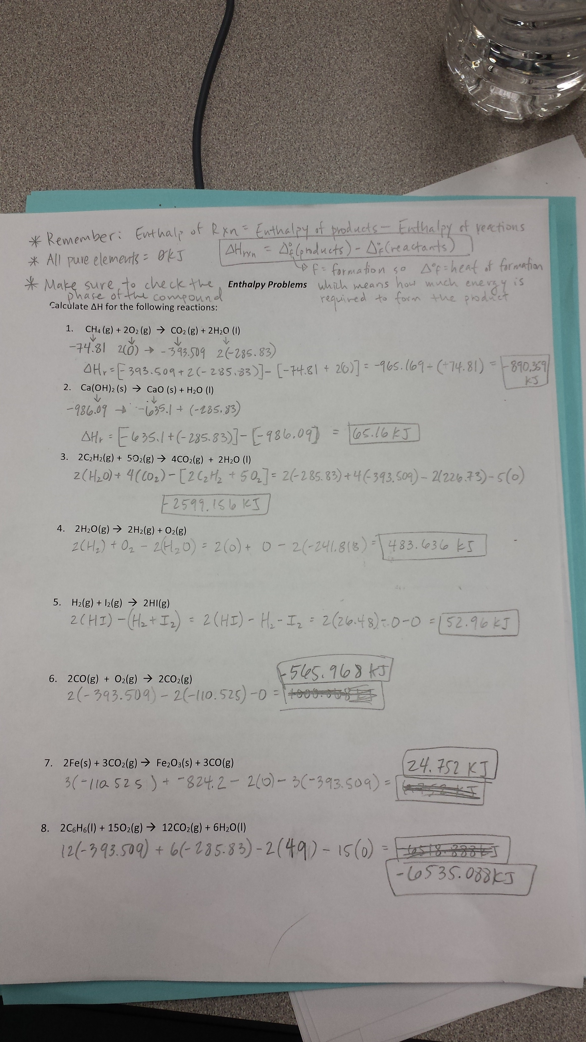 Worksheets and Answer Keys - chemistry